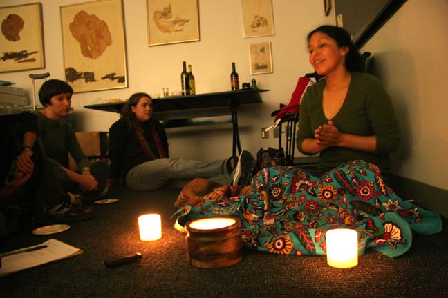 Doris at Quechua Conversation Night - CLACS at NYU