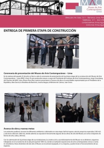 Borea - Peru - MAC-Lima's bulletin - July 25th 2011
