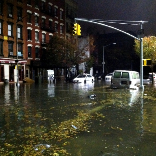 A Flooded Alphabet City