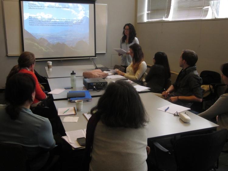 CLACS Student Samantha Balaban Presenting Her Research