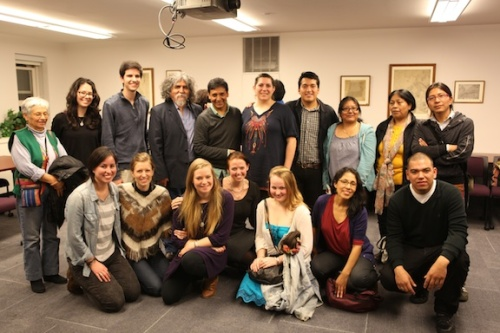 Manuelcha with NYU Quechua Outreach Committee