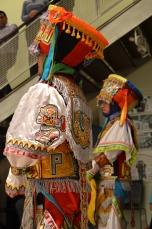 Andean scissor dancers Steve Cotaquispe and Luis Aguilar