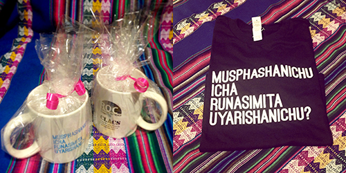 Quechua mugs tshirts for sale CLACS NYU