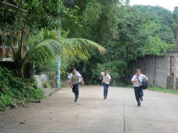 Children in El Mozote