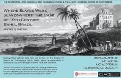 João Reis, Where Slaves Were Slaveholders, Poster