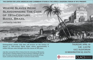 João Reis, Where Slaves Were Slaveholders, Poster