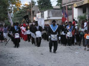 Freemasons parade in Jacmel, Haiti, 2013. Photo by Katherine Smith