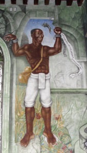 Gaspar Yanga - First Liberator of the Americas - section of mural located in the Palacio Muncipal of Xalapa, Veracruz