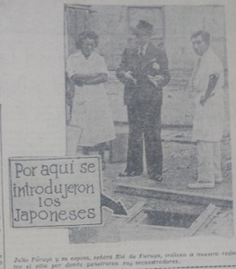 (La Crónica, 28 April 1940). This image was a part of the on-going