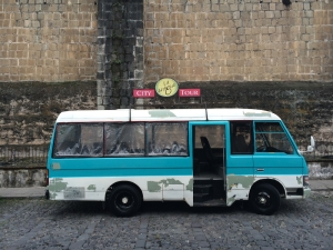 Tourist van - Antigua, Guatemala. Photo by MA candidate William Ramirez.
