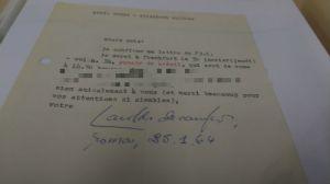 Haroldo de Campos' letter to Max Bense (Copyrights: Casa das Rosas)