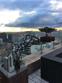 "Jose Dario Gutierrez private collection. Sculpture by colombian artist Camilo Bojaca, part of the ""Jardin de malezas"" project."