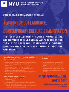 2020 Teacher Fellows Deadline Extended